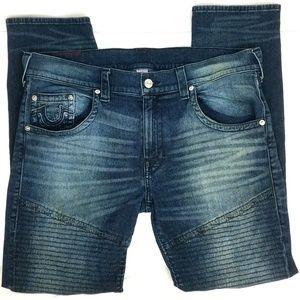 True Religion Moto Skinny Run Jeans